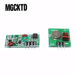 433mhz transmitter receiver module online shopping - RF wireless receiver module transmitter module board Ordinary super regeneration MHZ DC5V pairs freeshipping