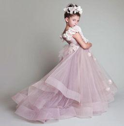 $enCountryForm.capitalKeyWord Australia - Vintage Krikor Jabotian Flower Girl Dresses Children For Weddings Tiered Kid First Communion Dress Floor Length Little Girl Pageant Gowns
