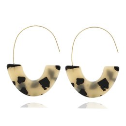 Wish Earrings Australia - 2019 Hot Sale Brincos Earings Europe And The New Earrings Leopard Acetate Acrylic U For Wish For Eardrop Sources Collars