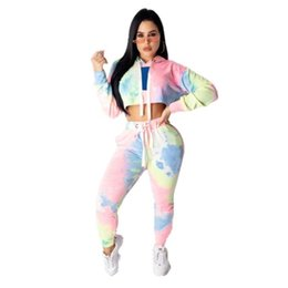 Pink Clothing Women UK - Womens Tracksuit sportswear hoodie outfits Two piece set Jogging Sports long sleeves pants Suits Women Sportswear women clothing klw1037