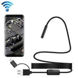 waterproof camera flexible NZ - Y101 8mm Spiral Head 3 In 1 Waterproof Digital Endoscope Inspection Camera, Length: 2m Flexible Cable