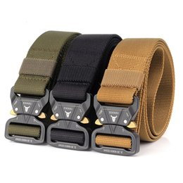 heavy metal accessories Australia - Tactical Belts Nylon Training Waist Belt Waist Belt With Metal Buckle Adjustable Heavy Duty Hunting Accessories
