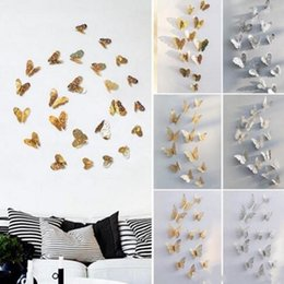 Wall Hollow Butterfly Art Pure Color Bedroom Living Room Home Decor Kids DIY Decoration Metal Painting WY304Q on Sale
