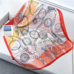 $enCountryForm.capitalKeyWord Australia - 2019 New Silk Scarf Women Clock Chain Strap Printing Foulard Female Fashion Shawls&Wraps Beach Towel Soft Long Scarves Kerchief 180*90cm