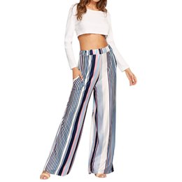 $enCountryForm.capitalKeyWord UK - Women Casual New Fashion Multicolor Pants Stripe Print Wide Leg Pants Leggings Yoga Leggings Yoga Women 2019 New #ES