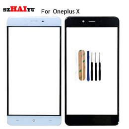 $enCountryForm.capitalKeyWord Australia - SZHAIYU A+ Top Replacement LCD Outer Lens Glass Front Screen Panel For Oneplus X E1001 Front Glass + Kits