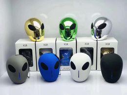 $enCountryForm.capitalKeyWord Australia - Newest Speaker X18 Alien Bluetooth 5.0 Mini Speakers Wireless Super Bass Subwoofers Creative Cartoon Soundbox TF USB MP3 Music Player