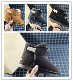 white snow boots for kids 2019 - Top Winter keep warm Kids teeth snow boots cowhide Ankle for children Authentic Cute girls and boys snowboots unisex sho