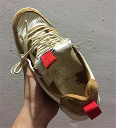 Discount leisure wind shoes - New Tom Sachs Spaceship Mars Field NASA 2.0 Shoes AA2261-100 Natural Leisure Wind Male and Female Dimensions 36-45