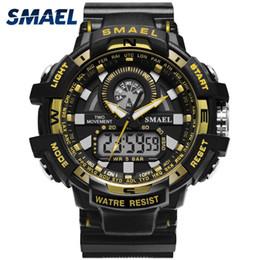 Men S Big Watch Australia - Big Men Watch Sport S Shock Resitant Sport Watches saat Digital Clock NEW Military Watch Waterproof 50M 1557A Men Military Army