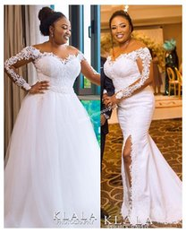 new africa wedding dresses NZ - 2019 New South Africa Style Wedding Dresses Detachable Train Sheer Jewel Neck Illusion Long Sleeve Waistband Country Style Bridal Gown