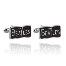 wholesale beatles shirts Australia - Fashon Metal rock band The Beatles Cufflink Cuff Links for men shirts dress suit Cuff links jewelry Christmas gift