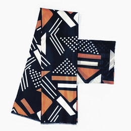$enCountryForm.capitalKeyWord UK - Silk wax fabric new arrival digital satin silk with chiffon print wax fabric high quality african print for dress