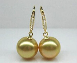 $enCountryForm.capitalKeyWord Australia - women Fashion Jewelry new hot classic Huge 16mm Golden South Sea Shell Pearl Earring