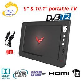 Leadstar 9 inç 10 inç mini LED TV dijital çalar AC3 DVB-T T2 Analog ATSC Taşınabilir TV, HDMI, USB TF TV programları Araç şarj hediye