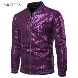 red black hip hop costumes 2019 - Shiny Glitter Sparkle Sequins Mens Jackets Coats Nightclub Disco Stage Perform Show Costume Hip Hop Streetwear Chaqueta