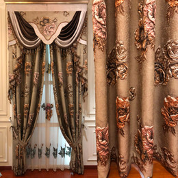 WindoWs european online shopping - European high grade embossed printing curtains for Living Room Window Luxury elegant Drapes Curtains for Bedroom kitchen Hotel