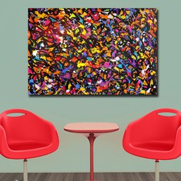 $enCountryForm.capitalKeyWord Australia - 1 Piece Fashion Abstract Painting Color of The Ocean Canvas Wall Pictures for Living Room Office Bedroom Modern Canvas Oil Painting No Frame