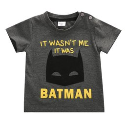 Wholesale 1 Years Batman Cotton Toddler Children Kids Baby Boy Cartoon T shirts Tee Summer Short Sleeve Tee Tops Costume Cloth