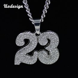$enCountryForm.capitalKeyWord Australia - Uodesign Mens Bulls 23 Jersey Pendant Necklace Gold Color Round Cut Rhinestone Simulated Diamonds Sporting Jewelry