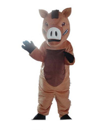 big nose costume Australia - Factory direct sale a brown boar mascot costume with big nose for adult to wear