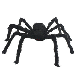 black plush spiders Australia - Halloween Horrible Big Black Furry Fake Spider Size 30cm Creep Trick Or Treat Halloween Decoration Plush toys