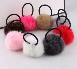 Korean girls hot shorts online shopping - 200PCS Hot Sale Korean Style Girls Cute Trendy Soft Fake Fur Elastic Hair Rope Hair Band Accessories