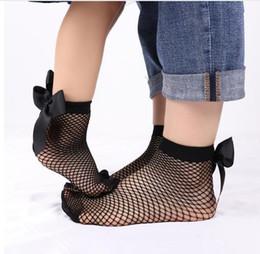 ccf8b7ec28a 10pairs 20cs 2019 Women Baby Girls Kids Mesh Socks 1Pair Bow Fishnet Ankle  High Lace Fish Net Vintage Short Sock Fashion Summer Sale 2pair
