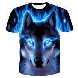 6c7fb539 Novelty 3D men wolf t-shirt Cool wolf Printed t shirts summer 3D Short  Sleeve Glow in the Dark T-shirts good quality