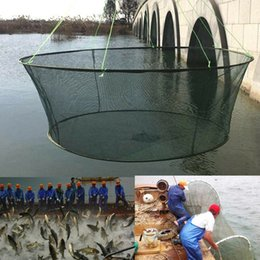 25 high quality foldable netting large net fishing nylon durable landing nets prawn bait crab shrimp fish trap fishing net on Sale