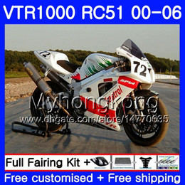 rc51 fairing kit Australia - Kit Red white stock For HONDA VTR 1000 RC51 2000 2001 2002 2003 2004 2005 2006 257HM.38 RTV1000 SP1 SP2 VTR1000 00 01 02 03 04 05 06 Fairing