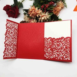 $enCountryForm.capitalKeyWord Australia - Chinese Traditional Wedding Invitation Cards Exquisite Sculpture Flower Lace Design Apply To Grand Events Business Birthday Party Invitation