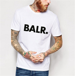 Balr T Shirts Australia - Mens Designer T Shirts Balr Brand Letters Print Solid Color Shirts Joggers Clothing Street Wear T shirts Asian Size S-3XL