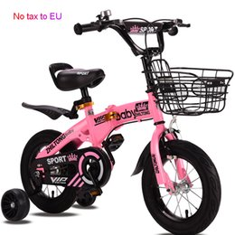 folding bike 12 inch NZ - New Folding kid bike 12 14 16 18 inch children bicycle for Boys and girls cycling Light students bike Children's gift
