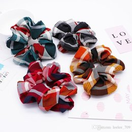 $enCountryForm.capitalKeyWord Australia - 4 Color Women Girls Christmas Red Green Cloth Elastic Ring Hair Ties Accessories Ponytail Holder Hairbands Rubber Band Scrunchies