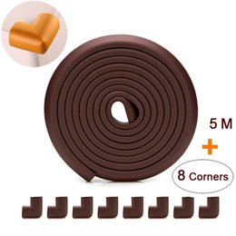 baby safety tape Australia - 5 M+8pcs Corners Child Protection Corner Protector Baby Safety Guards Edge & Corner Guards Angle Form Free Tape Wholesale SH190916