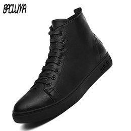 $enCountryForm.capitalKeyWord Australia - Autumn New Men Casual Shoes High Quality Leather Male Ankle Boots Hip-hop Men Moccasins Shoes Waterproof Man Motorcycle Boots