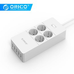 usb appliances Australia - ORICO Surge Protection USB Charger Home appliances 4 AC EU Power Strip1.5 Meter Power Cord with 5 Port USB Charging Station
