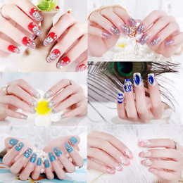 7c621d0145 3d acrylic fake nails online shopping - 24pcs set D Glittering Bride False  Nails Ballerina Nails