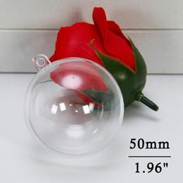 Plastic Christmas Ornament Australia - Clear Christmas Ball Ornaments DIY Bath Bombs Ornament Ball Craft Plastic Ball Ornament for Wedding Party Christmas Decor 50mm(5pcs)
