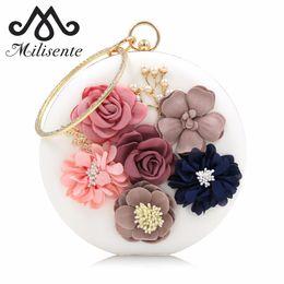 Flower Clutch Bags NZ - Milisente 2018 New Women Evening Clutches Bags Ladies Flower Wedding Bag Day Clutch Purse Female Party Bag