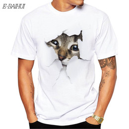 $enCountryForm.capitalKeyWord Australia - E-BAIHUI Men Short Sleeve New 3D Cat Printing Men's Round Neck Short-sleeved 2019 Pocket Print T-shirt Tops T-1914