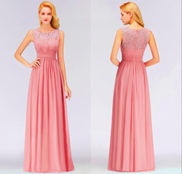 $enCountryForm.capitalKeyWord Australia - A-Line Blush Pink Navy Blue Burgundy Long Bridesmaid Dresses Lace Chiffon Floor Length Beach Garden Maid Of Honor Gowns