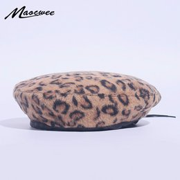 beanie ladies beret NZ - Fashion Korean Autumn Winter Women Beret Vintage Leopard Printed Hat Beanie Cap Ladies Girls Casual Berets