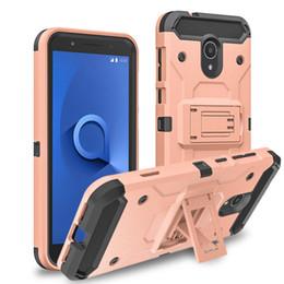$enCountryForm.capitalKeyWord Australia - For LG Stylo 4 K30 Q7 Plus Samsung J3 2018 J7 2018 Rugged Kickstand Mobile Phone Robot Defender Case with Holster Clip