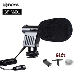Dslr Camera Microphone Australia - BOYA BY-VM01 Pro Video & Broadcast Directional Condenser Recording Microphone for Nikon Canon Sony DSLR Cameras DV Camcorders