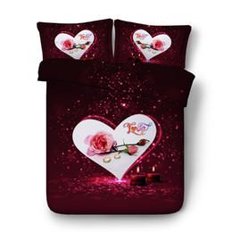$enCountryForm.capitalKeyWord Australia - Rose Bedding Duvet 3pc 1 Gold Comforter Cover 2 Floral Pillow Shams Pink Flower Bed Set Wedding Coverlet Galaxy Bedspread NO Quilt Girls