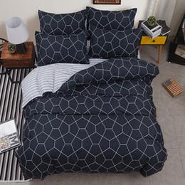 Black White Rose Bedding Australia - BEST luxury black strips Duvet Cover flat bed Sheets +Pillowcase King Queen full Twin Bedding Set Bedding Set 3 4pcs31