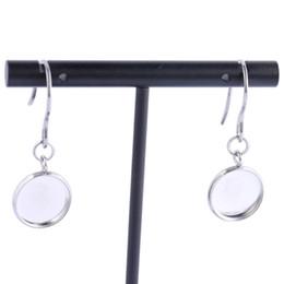 Base for earrings online shopping - Shukaki Fit mm Cabochon Simple Earring Base Setting Tray Blanks Stainless Steel Diy Bezel Findings For Earrings Making Supplies