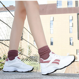Shoes Circle Australia - Lovely2019 Circle Ladies Single Head Thick Soled Shoes Chalaza Sneakers Leisure Time Run Shoe Spelling Color